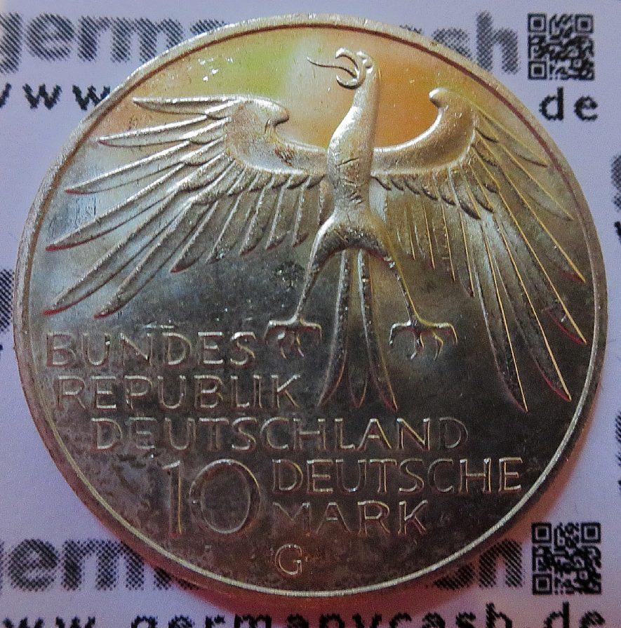 10 D Mark Gedenkmunze Olympische Sommerspiele 1972 Olympiastadion Jaeger Nr 404