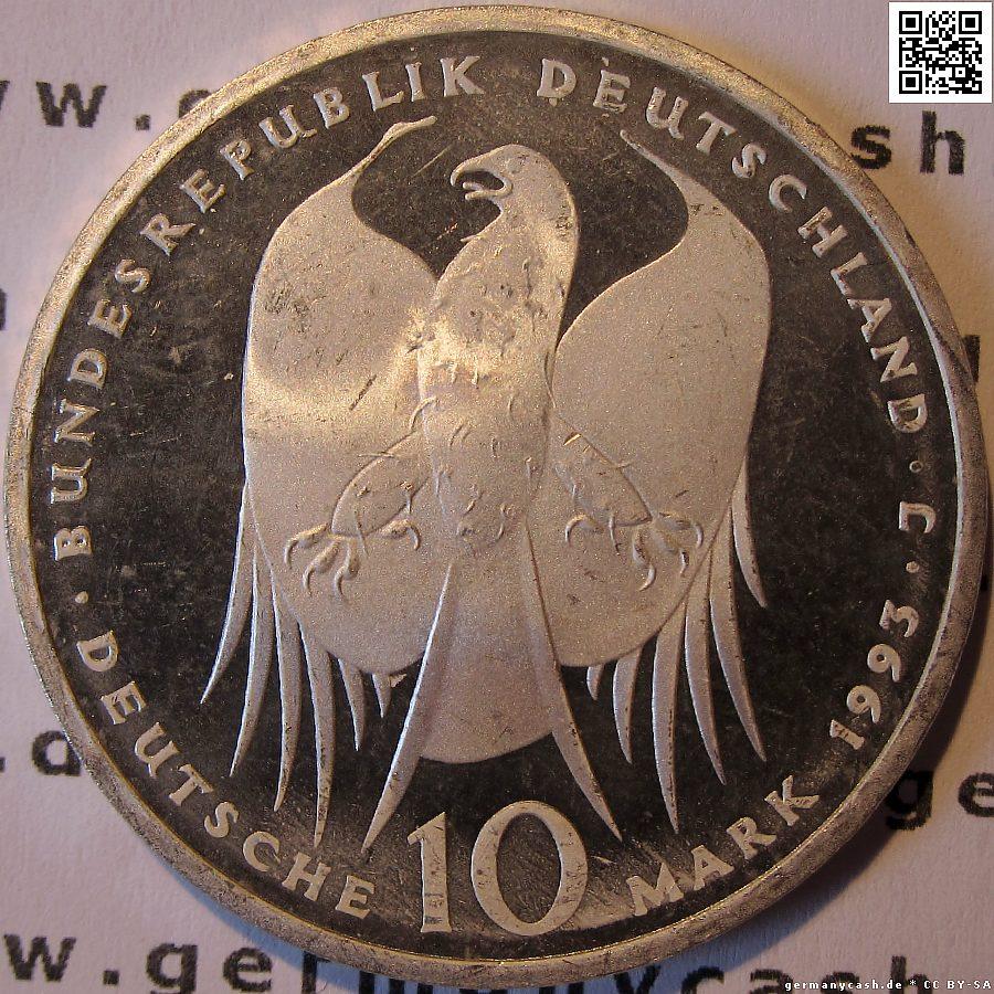10 Deutsche Mark 150 Geburtstag Von Robert Koch Jaeger Nr 456