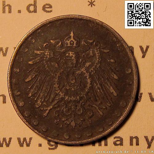 Deutsches Kaiserreich Notgeld Ersatzmünze 10 Pfennig