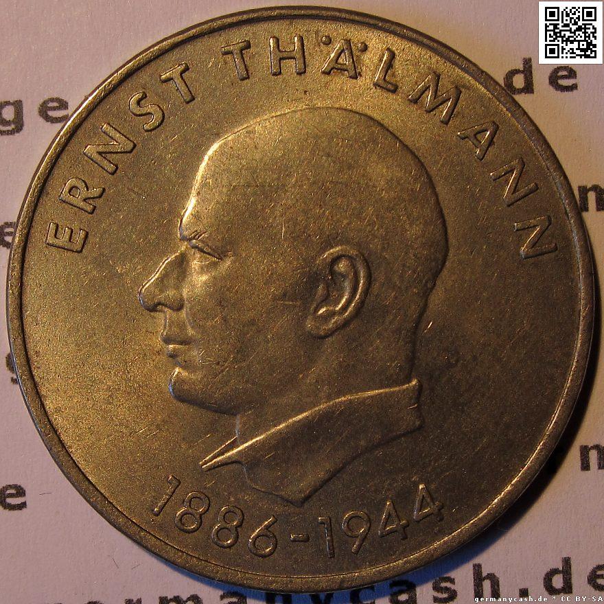 20 Mark Der Ddr 85 Geburtstag Von Ernst Thälmann Jaeger Nr