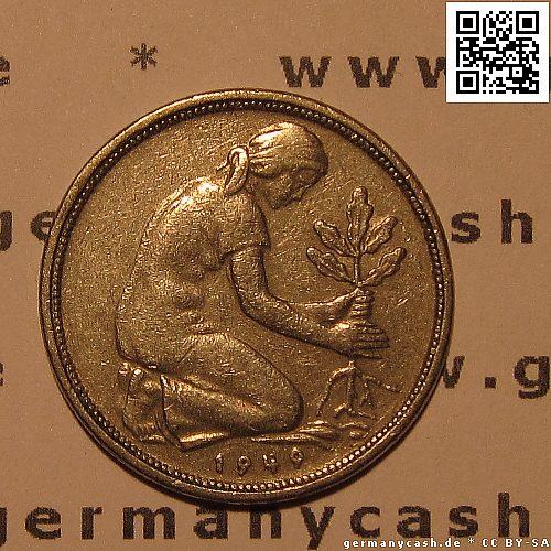 Münze 50 Deutsche Pfennige Bank Deutscher Länder Jaeger Nr 379