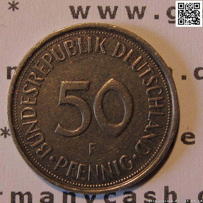 Münze 50 Deutsche Pfennige Jaeger Nr 384384a