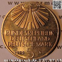 5 Deutsche Mark - Otto Hahn - Jaeger-Nr. 426