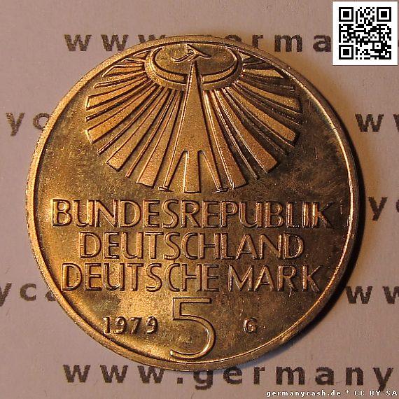 5 Deutsche Mark Gedenkmünze Zum 100 Geburtstag Von Otto Hahn